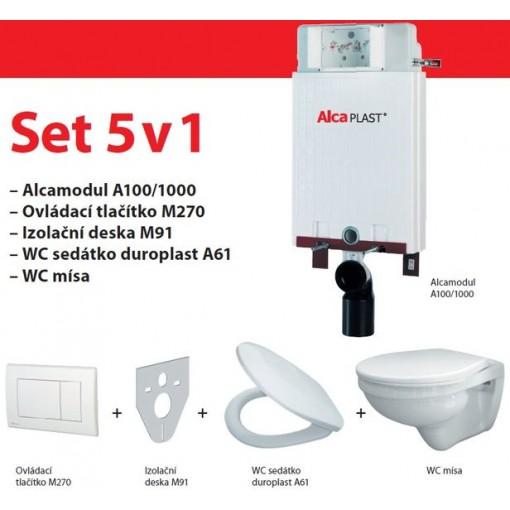 ALCAPLAST set ALCAmísa 5v1 AM115/1000,M1710,M91/sedátko/mísa (ALCAPLASTmodul) AM115SET5V1 (A115SET5V1)