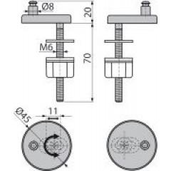 Alcaplast Panty se spodní montáží, krytka nerez (P106)
