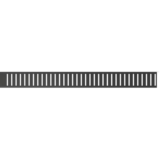 Alcaplast PURE-850BLACK rošt podlahového žlabu, matný PURE-850BLACK