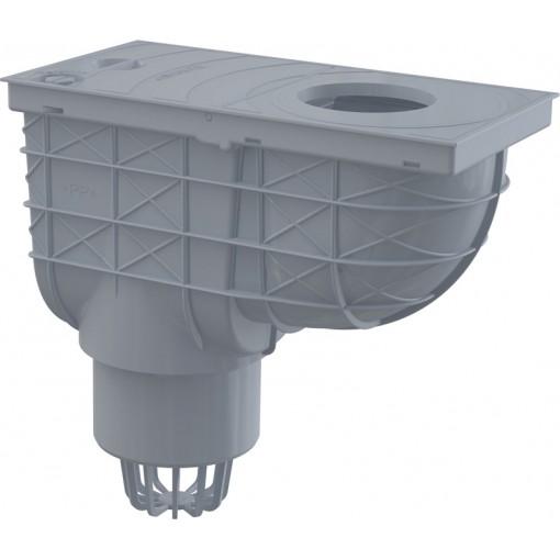 Okapová vpusť 80-125 DN110 šedá spodní ALCAPLAST AGV1S (AGV1S)
