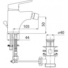 NOVASERVIS - Bidetová baterie s výpustí SMILE chrom 71011,0