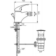 NOVASERVIS - Bidetová baterie s výpustí Metalia 55 chrom 55111,0