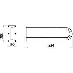 NOVASERVIS - Madlo dvojité pevné 564 mm bílá R6655,11