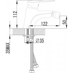 NOVASERVIS - Bidetová baterie s výpustí DIJON chrom 81011,0