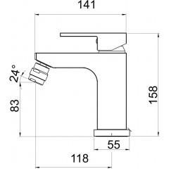 NOVASERVIS - Bidetová baterie s výpustí EDGE chrom 36011,0