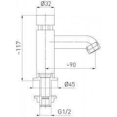 NOVASERVIS - baterie na studenou vodu s tlačným ventilem (10-20sekund) Z201
