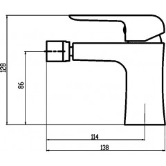 NOVASERVIS - Bidetová baterie s výpustí Nobless Tina chrom 38011,0