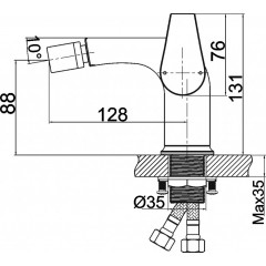 NOVASERVIS - Bidetová baterie s výpustí Nobless VISION X chrom 42011,0