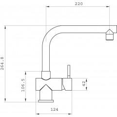NOVASERVIS - Dřezová baterie FERRO kartáčovaný nerez 70713,4