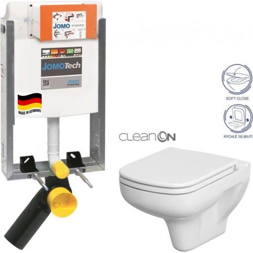 JOMO - SET JOMOTech Modul pro zazdění LIGHT + sedátko + WC CERSANIT CLEANON COLOUR (164-14600479-00 CN1)