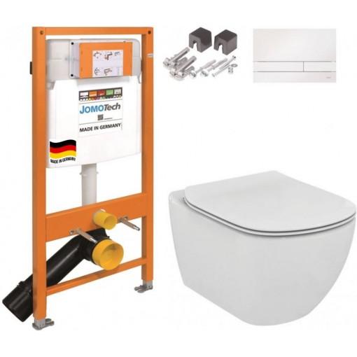 JOMO DUO modul pro závěsné WC s bílou deskou + WC Ideal Standard Tesi se sedátkem (174-91100900-00 TE3)