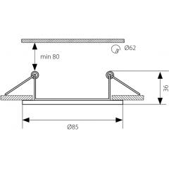 SAPHO - MARIN podhledové svítidlo, 35W, 12V, saténový nikl (04704)