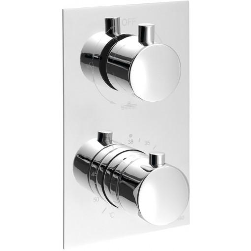 SAPHO - KIMURA podomítková sprchová termostatická baterie, 3 výstupy, chrom (KU392)