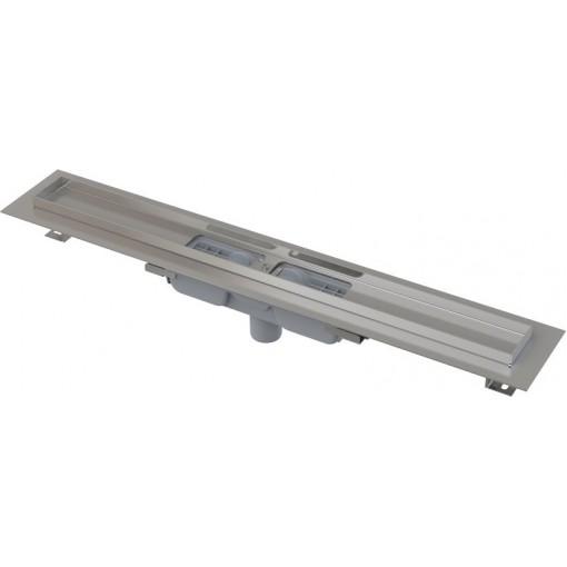 Alcaplast APZ1101-1150-LOW podlahový žlab v.55mm SNÍŽENÝ svislý odtok kout min. 1100mm (APZ1101-1150)