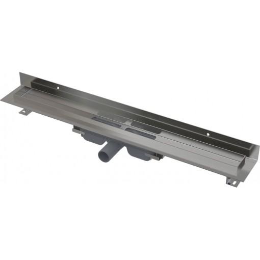 Alcaplast APZ116-750 LOW Podlahový žlab s okrajem pro plný rošt, pevný límec ke stěně kout min. 800mm (APZ116-750)
