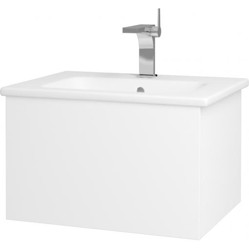 Dřevojas - Koupelnová skříň VARIANTE SZZ 60 (umyvadlo Euphoria) - N01 Bílá lesk / L01 Bílá vysoký lesk (159443)