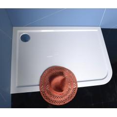 POLYSAN - STYX L sprchová vanička z litého mramoru, obdélník 120x80x4cm, levá, bílá (66611)