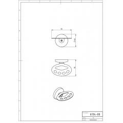 NOVASERVIS - Držák kartáčků a pasty Metalia 1 chrom 6134,0