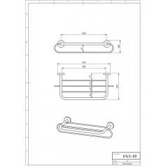 NOVASERVIS - Velký držák ručníků se závěsem 400 mm Metalia 1 chrom 6145,0