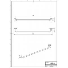 NOVASERVIS - Držák ručníků 800 mm Metalia 1 chrom 6180,0