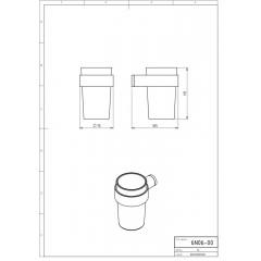 NOVASERVIS - Držák kartáčků a pasty sklo Metalia 2 chrom 6206,0