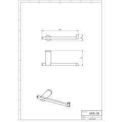 NOVASERVIS - Držák toaletního papíru jednoduchý Metalia 2 chrom 6210,0