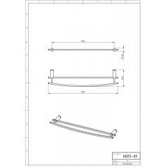 NOVASERVIS - Dvojitý držák ručníků 600 mm Metalia 2 chrom 6225,0