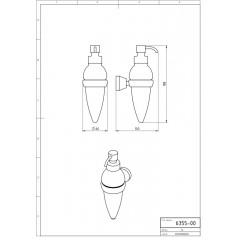 NOVASERVIS - Dávkovač mýdla Metalia 3 chrom 6355,0