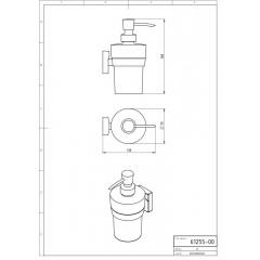 NOVASERVIS - Dávkovač mýdla Metalia 12 chrom 0255,0
