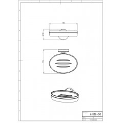 NOVASERVIS - Mýdlenka sklo Metalia 11 chrom 0136,0