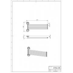 NOVASERVIS - Čtyřramenný držák ručníků Metalia 11 chrom 0146,0