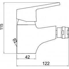 NOVASERVIS - Bidetová baterie s výpustí Titania IRIS New chrom 94411,0