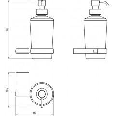 NOVASERVIS - Dávkovač mýdla Metalia 9 chrom 0955,0