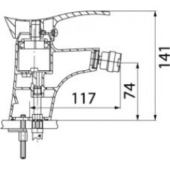 NOVASERVIS - Bidetová baterie s výpustí PADWA chrom 73011,0