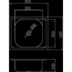 NOVASERVIS - Dřez 40x50 s přepadem nerez DR40/50A