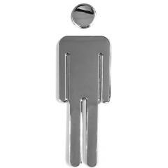 AQUALINE - WC označení dámy/páni, pár, ABS/chrom (SB302)