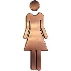 AQUALINE - WC označení dámy/páni, pár, ABS/bronz (SB303)