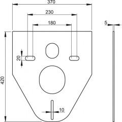 Tlumící izolační deska záv.WC,bidet, zkosená, Alcaplast, bez krytek a průchodek M91 (M91)