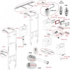 Alcaplast modul do jádra AM102/1120 pro suchou instalaci výška 1,2m s vhazovačem tablet P169 AM102/1120