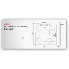 WC sedátko A64 SLIM se zpomalením-softclose ALCAPLAST A64SLIM (A64SLIM)