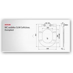 WC sedátko A67 SLIM se zpomalením-softclose ALCAPLAST A67SLIM (A67SLIM)