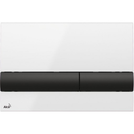 Alcaplast ovládací deska M1710-8 bílá/černá (M1710-8)