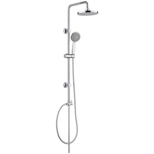 MEREO - Sprchová souprava Sonáta - plastová hlavová sprcha a třípolohová ruční sprcha (CB60101SP)