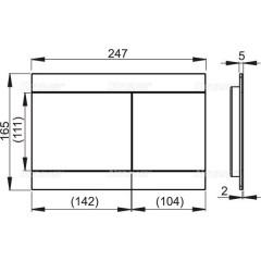 Alcaplast Ovládací tlačítko pro předstěnové instalační systémy, nerez-polomat (FUN-INOX)