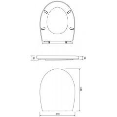ALCAPLAST Jádromodul - předstěnový instalační systém s chromovým tlačítkem M1721 + WC CERSANIT ARES + SEDÁTKO AM102/1120 M1721 AR1