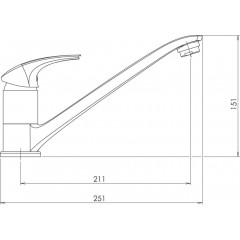 NOVASERVIS - Dřezová baterie Metalia 57 SHELL 57091,66