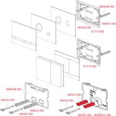 Alcaplast Ovládací tlačítko , nerez dekor dřeva STRIPE-WENGE