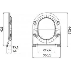 ALCAPLAST Sádromodul - předstěnový instalační systém s chromovým tlačítkem M1721 + WC CERSANIT ZEN CLEANON + SEDÁTKO AM101/1120 M1721 HA1