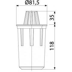 Alcaplast Zápachová uzávěra pro venkovní žlaby AVZ-P007 AVZ-P007