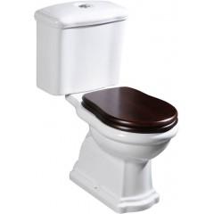 KERASAN - RETRO WC sedátko, dřevo masiv, ořech/chrom 109040